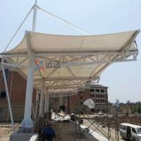 定制安裝膜結構體育看臺 學校操場看臺膜結構遮陽棚