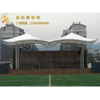 加工学校张拉膜结构看台 户外舞台膜结构 主席台膜结构