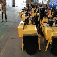 座駕850雙鋼輪小型壓路機路面作業小型手扶壓路機