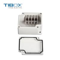 TIBOX热销一进一出带敲落孔端子户外防水接线盒