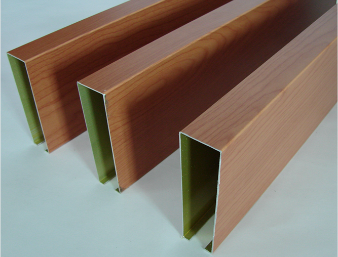 金属木纹铝方通 铝天花 学校外墙氟碳铝材料