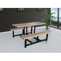松原食堂餐桌椅钢木结合