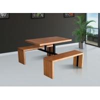 白城美食城餐桌钢木餐桌椅