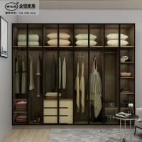 极简风格20边框材料批发轻奢窄边框全铝20衣柜主柜门材料