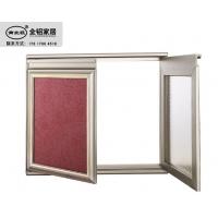 新款全铝豪华隐框橱柜晶钢门材料厂家直销