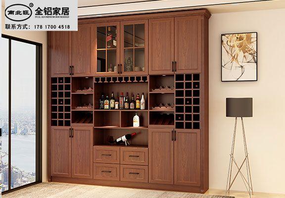 全铝酒柜型材 铝合金酒柜材料定制批发