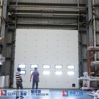 厂房外用保温阻燃工业提升卷闸门带视窗