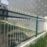 河南热镀锌护栏 三横杆组合绿白锌钢围墙护栏 镀锌庭院围墙拦