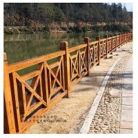 仿木纹锌钢栏杆 木纹围栏供应陕西|广东 安徽景区