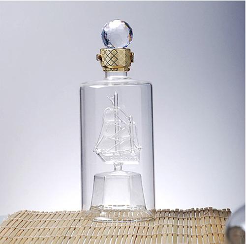 内置帆船玻璃酒瓶 创意型工艺酒瓶
