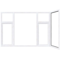 袁铝材系统门窗 平开窗 GRFD65隔热双外开平开窗系列