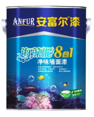 安富尔漆海藻泥8合l净味墙面漆内墙涂料乳胶漆