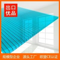 阳光板8mm双层中空透明色2.1*6m采光遮阳pc板