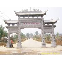 景區芝麻白石牌坊設計石門樓大門