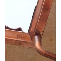 纯铜排水沟铜天沟无缝紫铜管雨水链封檐板烟囱帽铜水斗