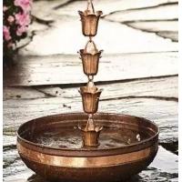 雨链  铜天沟 下水链  铜瓦