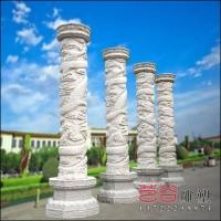 石雕盘龙柱大理石浮雕定制