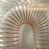 宁津众旺聚氨酯软管 吸尘排气钢丝管耐腐蚀排水PU钢丝螺旋管