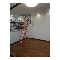 阁楼伸缩梯、伸缩楼梯、钛镁合金伸缩梯、美尔森机械出品