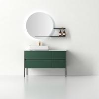 新款浴室柜实木简约轻奢岩板台面卫浴柜组合现代洗漱台定制