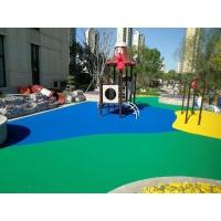 公园小区游乐场EPDM彩色防滑颗粒地面 现浇环保安全