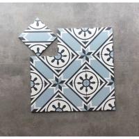 200X200清新浅蓝色花砖,厨房卫生间阳台防滑地砖防水墙砖