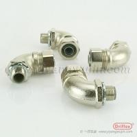 天津批发铜镀镍90度弯头 包塑软管接头 牙圈锁母配件齐全