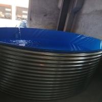 8米魚池鍍鋅波紋板支架06厚帆布