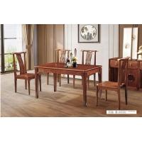 新中式-胡桃木 X001方桌 XY01餐椅