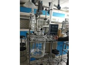?#21830;?50L双层玻璃反应釜抚顺定制石油研究用玻璃反应釜
