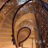 铜艺雕刻楼梯扶手   定制铜艺屏风