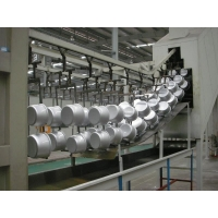 卓鼎机械喷涂设备之电饭锅自动喷涂生产线