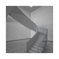 定制旋转式咖啡厅玻璃楼梯