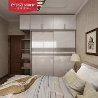 艾瑞卡全屋定制 简约极简家具定制 卧室衣柜书房书柜