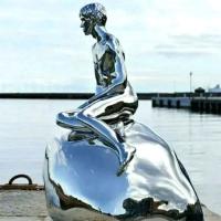 人物及生活场景雕塑 海的女儿不锈钢雕塑
