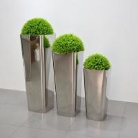 不锈钢装饰花盆雕塑 上海雕塑设计制作公司
