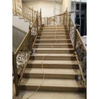 别墅欧式室内雕刻铜艺楼梯推荐
