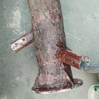 万化新材高新材料系列 钢管杆树皮质感防腐漆 艺术造型涂料