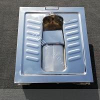 城镇改造旱厕型脚踏盖板蹲便器 不锈钢厕具