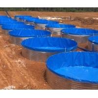定制帆布水池防水布蓄水池镀锌板支架游泳池