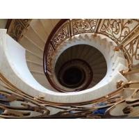 铜艺雕刻酒店专用楼梯护栏镂空古铜色楼梯护栏订做
