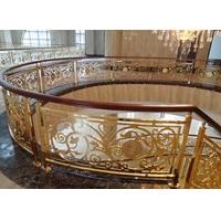 优雅高质量铜艺楼梯护栏雕花护栏