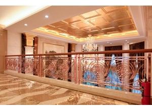 重庆酒店不锈钢楼梯扶手护栏 铝铜楼梯护栏定制