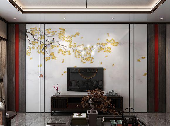 幸福树 CG.321+KD.005(电视背景墙)