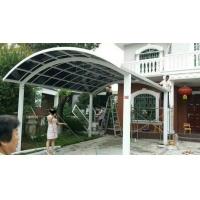 北京定做别墅阳台 露台门窗铝合金耐力板防雨棚停车棚