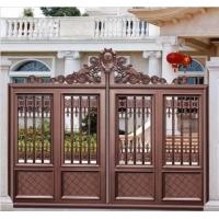 别墅庭院门、铝艺大门、户外别墅门、外墙大门