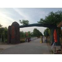 风景区景观大门-观光园仿真树大门施工