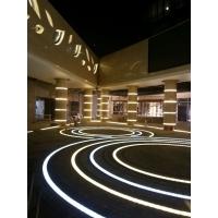 LED广场发光地砖灯_可拼接弧形方形地埋灯