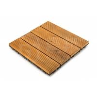广州立咔实木易装地板阳台花园户外地板