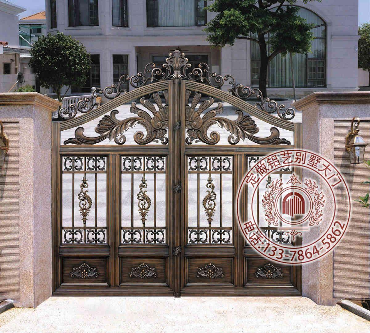 铝艺大门 别墅大门 别墅庭院大门 好看的铝艺门